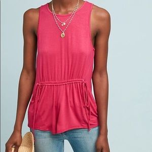 Anthropologie Andrea Waisted Top by Bordeaux